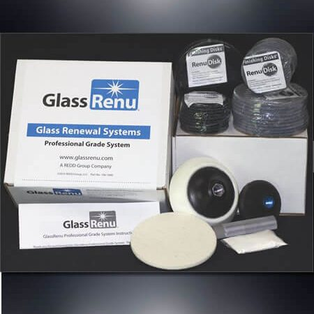 GlassRenu Professional Grade Glass Scratch Removal System XL